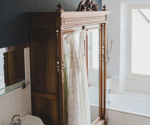 interior, mirror, and vintage image