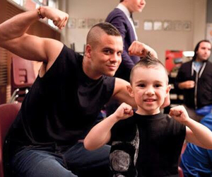 glee, puck, and mark salling image