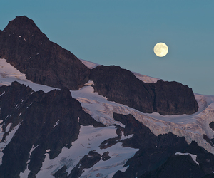 moon, mountains, and nature image