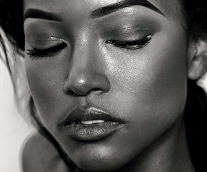 model, beauty, and black and white image