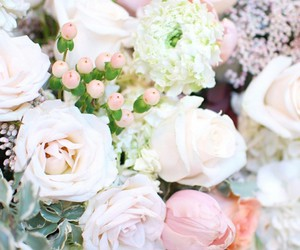 flowers, pastel, and roses image