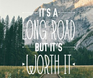 positive, quotes, and road image