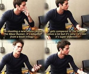 the maze runner, dylan o'brien, and the hunger games image