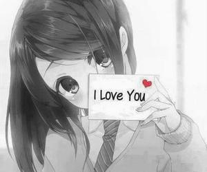 anime, I Love You, and kawaii image