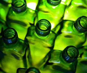 bottles and green image