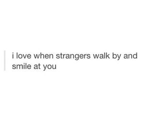 love, smile, and stranger image