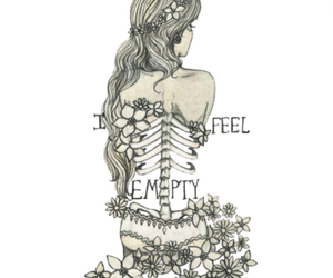 empty, flowers, and art image