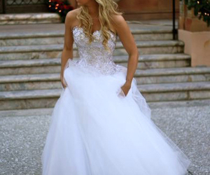 ballgown, bridal wear, and dress image