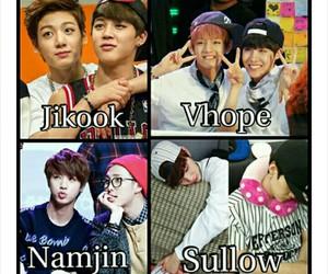 jikook, namjin, and bts image