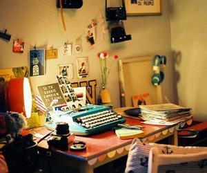 room, vintage, and typewriter image