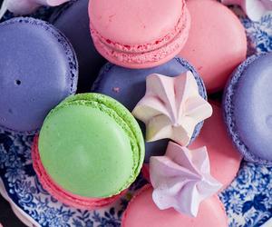 green, pink, and macaron image