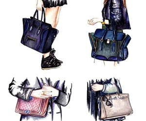 drawing, bags, and fashion image