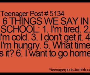 school, teenager post, and quote image