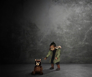north west, kanye west, and kim kardashian image