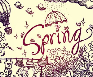 doodle, drawing, and spring image