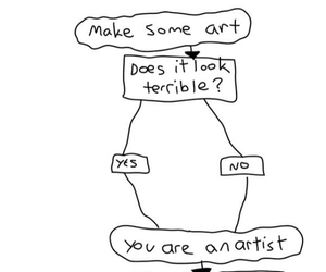 art, artist, and funny image