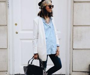 bag, bandana, and blazer image