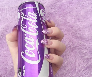 purple, nails, and coca cola image