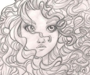 drawing, curls, and draw image