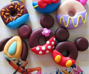 food, disney, and donuts image