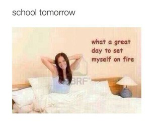 funny, school, and fire image