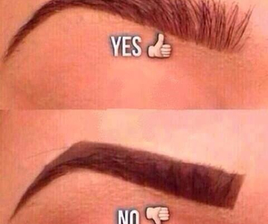 eyebrows, makeup, and no image