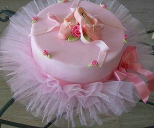 cake, pink, and ballerina image