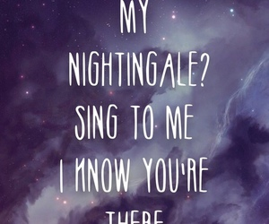 nightingale, demi lovato, and song image