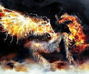 demon, fire, and hell image