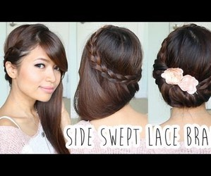 braid, hairstyle, and sweet image