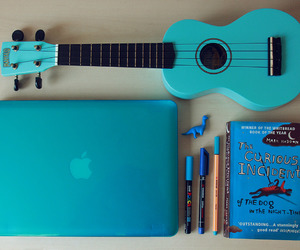 blue, book, and guitar image