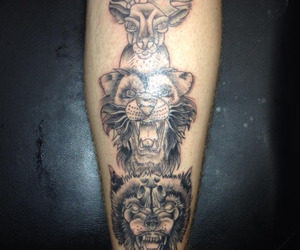 leao, lobo, and tattoo image