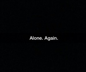 alone, black, and frases image