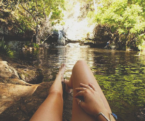 nature, summer, and legs image