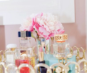 perfume, flowers, and beauty image