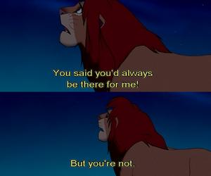 sad, lion king, and disney image