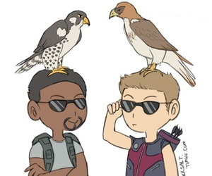 falcon, hawkeye, and Marvel image