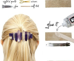 diy, barrette, and hair image