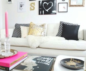 candles, cushions, and decorations image