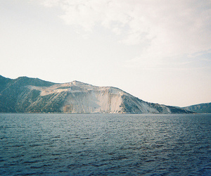 sea, vintage, and mountains image