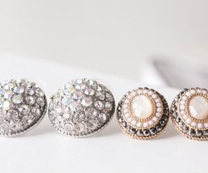 fashion, diamond, and earrings image