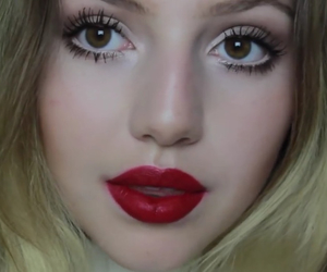 beatiful, lips, and red image