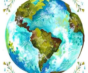 earth, world, and art image
