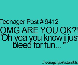 teenager post, funny, and fun image