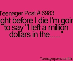funny, teenager post, and dollars image