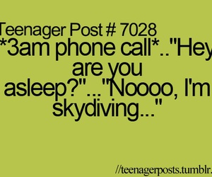 teenager post, funny, and skydiving image