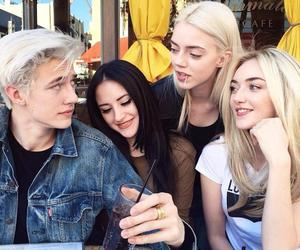 lucky blue smith, model, and family image