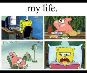 life, sleep, and spongebob image