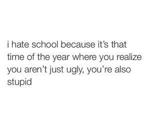 sad, school, and ugly image