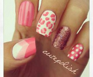 nails, pink, and cutepolish image